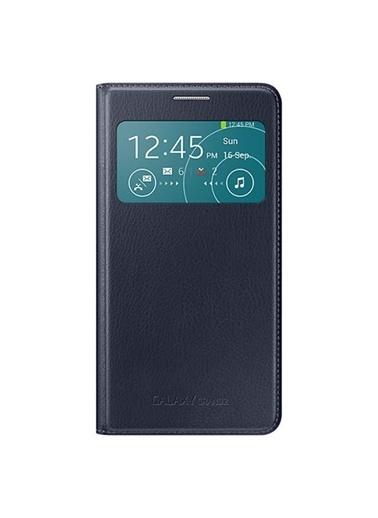 Samsung Samsung G7100 Galaxy Grand 2 Uyumlu Orjinal S View Cover Koyu Telefon Kılıfı Renkli